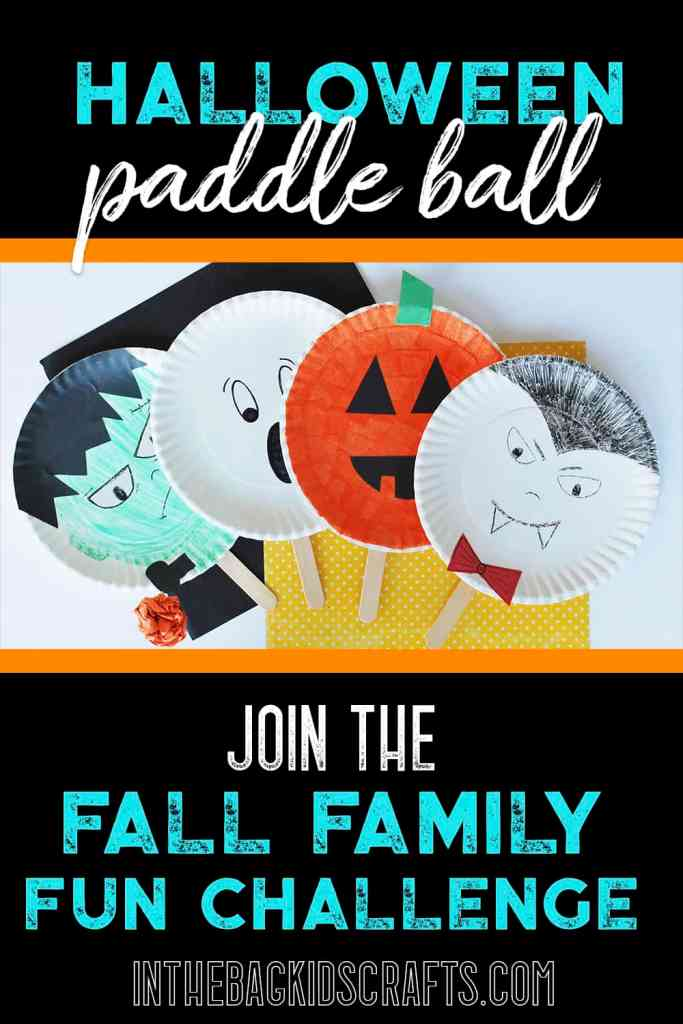 halloween kids activity paddle ball