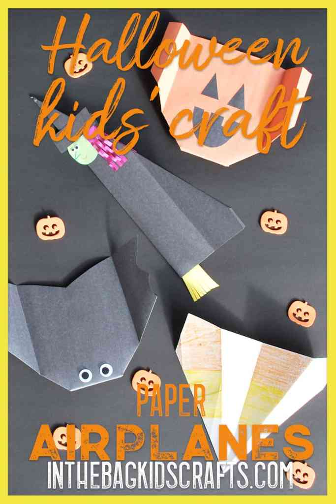 Halloween Kids' Activity Paper Airplanes