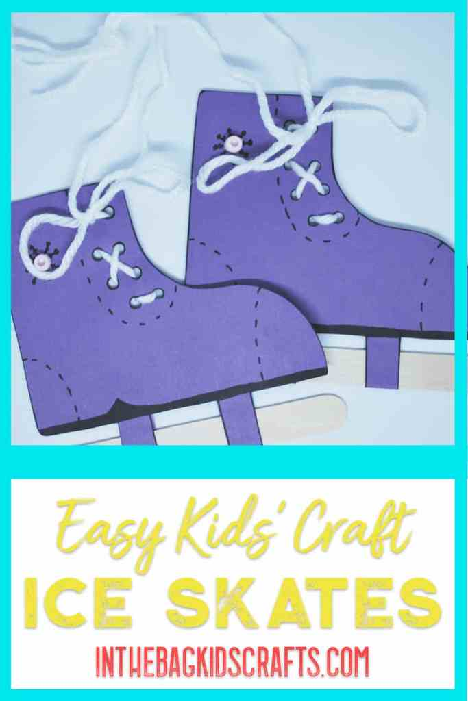 Easy Winter Kids Craft Ice Skates