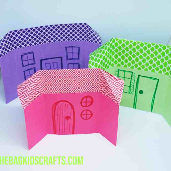 Paper Houses with washi roof