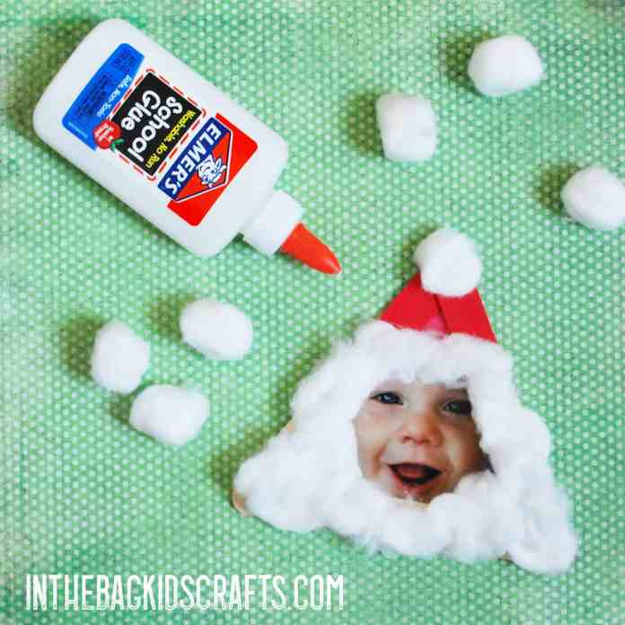 Glue on Santa's beard