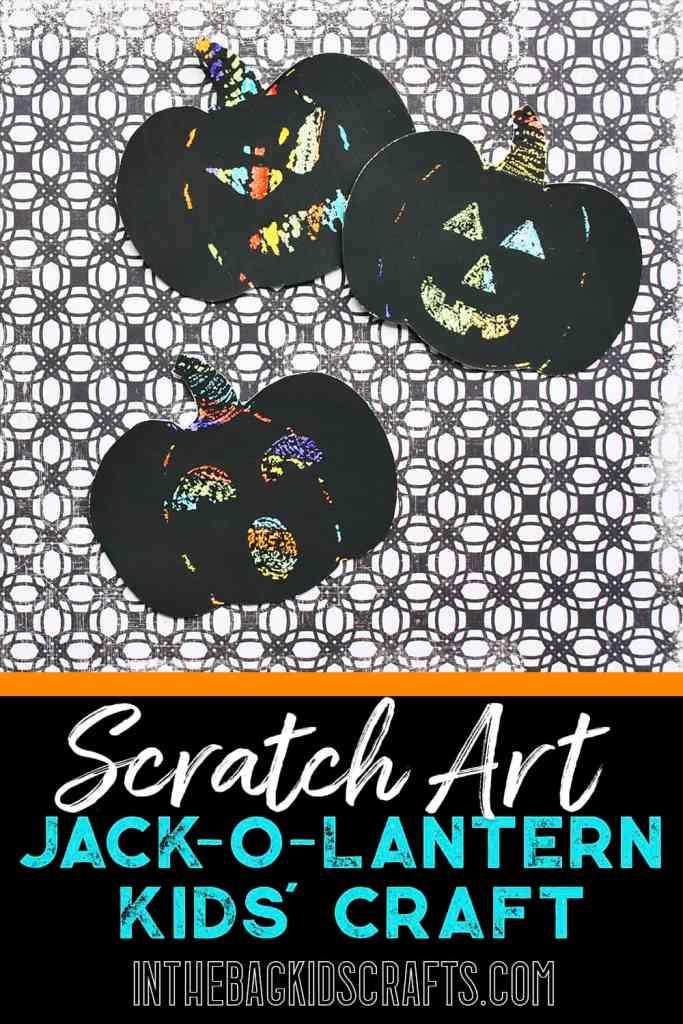 Pumpkin Kids' Craft Scratch Art Jack-o-Lantern