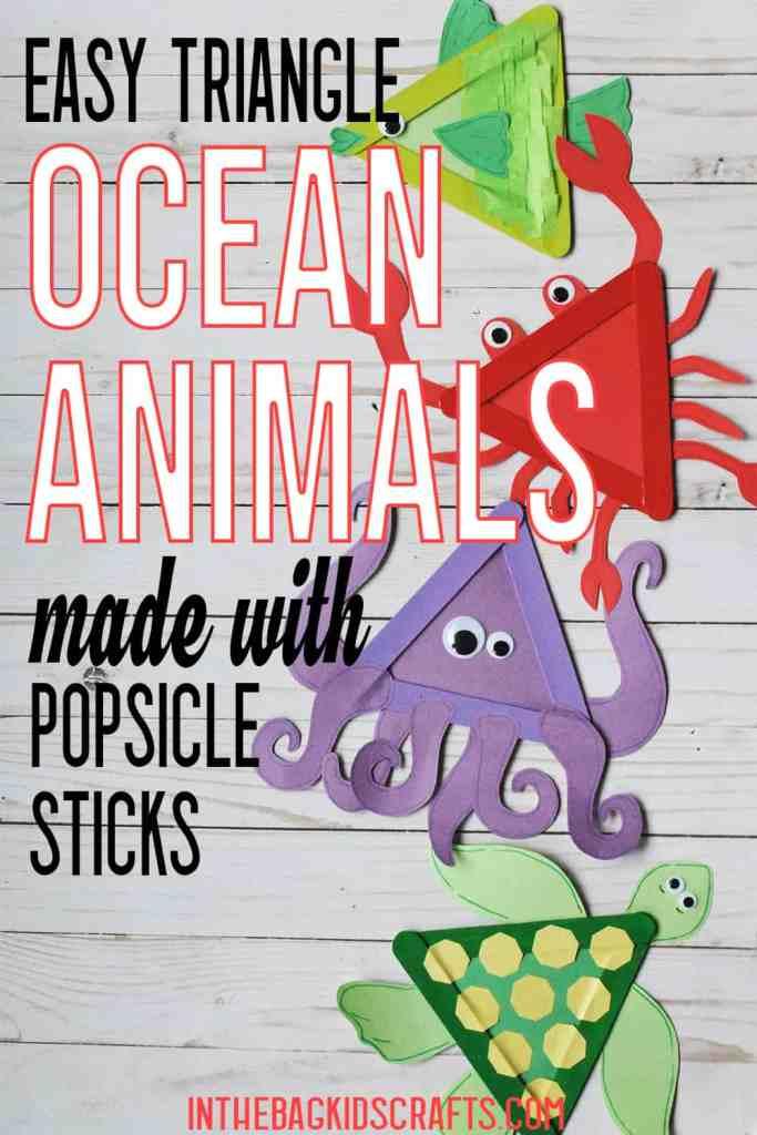 OCEAN ANIMALS CRAFTS FOR KIDS
