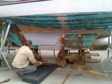 Mistelle gets a new keel