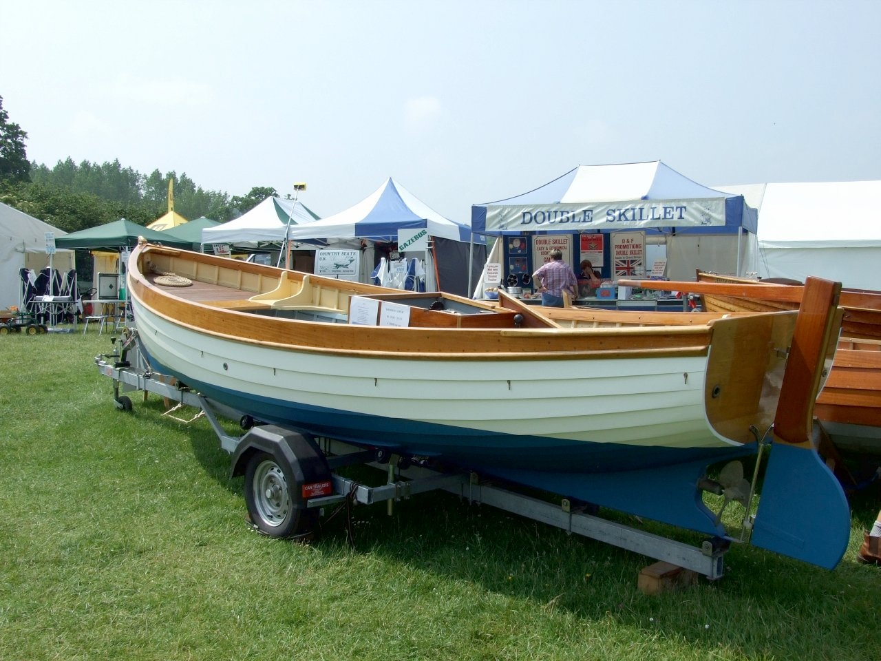 Nick smith boatbuilder at the beale park boat show for Motors for boats for sale
