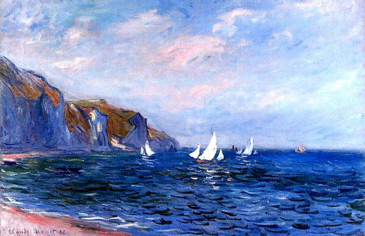 Monet's paintings of French rowing and sailing boats, and ...