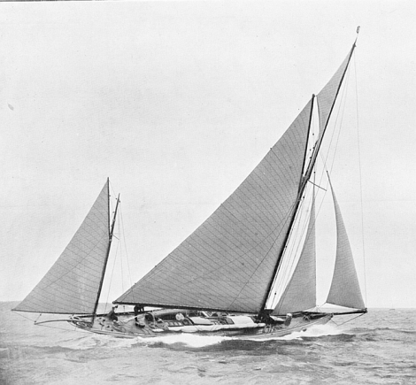 Another instalment of Jeff Cole's hundred-year old yacht racing photos