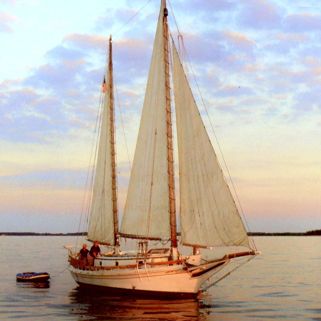 Photos of the Chesapeake three-sail bateau Jolly Dolphin – intheboatshed.net