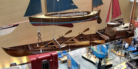 Thames skiff at the National Maritime Museum Cornwall