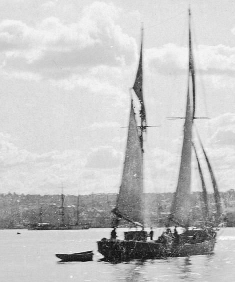 Jeff Cole's barge yacht photo