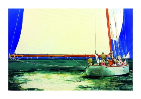 Michael Frith yacht paintings
