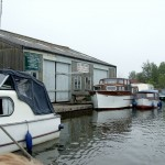 Boat shed on the Thurne