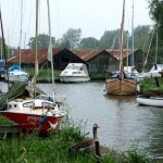 More boat sheds at Hickling