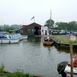 Boat shed at Whispering Reeds boatyard, Hickling