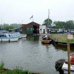 Boat shed at Whispering Reeds boatyard, Hickling