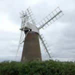 How Hill Estate Windmill, from the River Ant