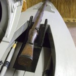 Gunning punt at the Museum of the Broads, Stalham