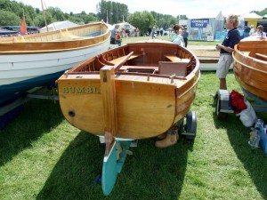 Nick Smith traditional boatbuilder at Beale Park Thames Boat Show 2008
