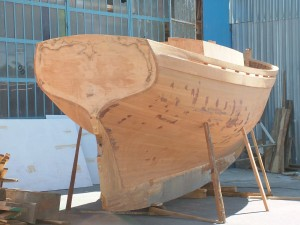 Paul Gartside\'s 29ft pilot cutter being built in Turkey