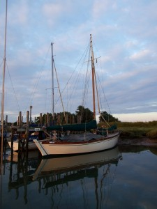 An intriguing boat moored near Faversham
