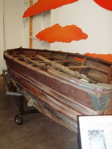 Folding ship's lifeboat built by Salter