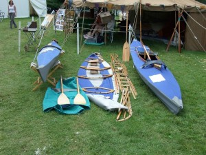 Folding boats at the Beale Park Thames Boat Show 2008