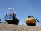 fishing boat, wooden boat, clinker, hastings, beach boat, traditional boat, south coast, england,