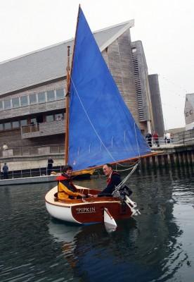 aileen, pipkin, curlew, nmmc, national maritime museum, cornwall, national maritime museum cornwall, falmouth quay punt, falmouth regatta, catboat, cape cod catboat, yacht racing
