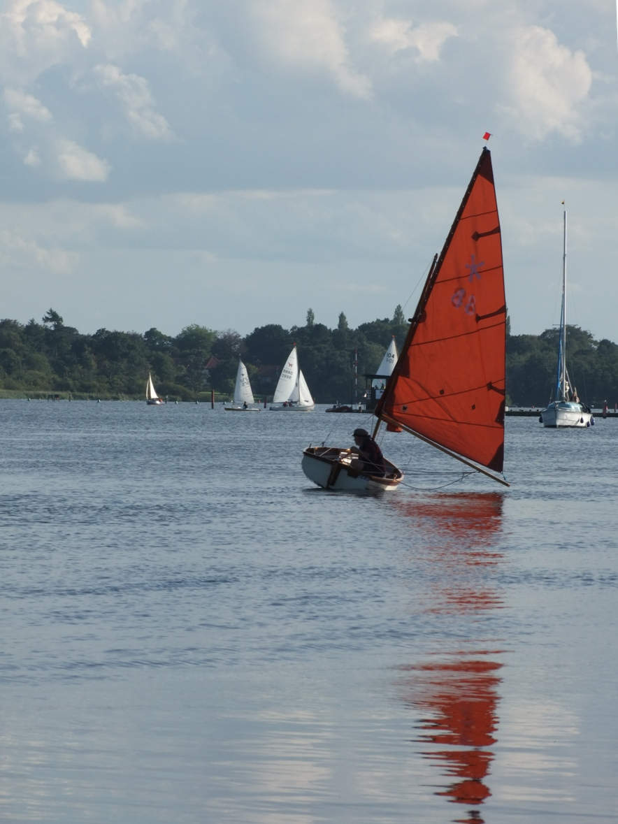 Old fashioned and classic sailing boats of the Norfolk ...