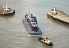 SS Robin leaving Lowestoft