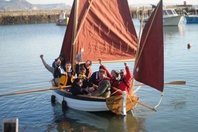 Boat Building Academy class of March 2010 in crab and lobster boat Witch of Weymouth