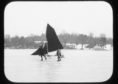 Ice yacht on Windermere in the Great Frost of 1895