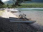 Summer on Lake Rotoiti - photos from Paul Mullings - pedal powered catamaran