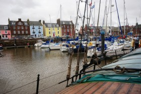 The inner harbour at Arbroath photographed from the Spider T