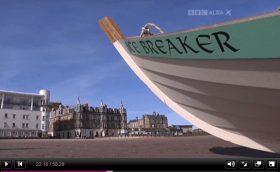 BBC Alba TV programme Scottish Coastal Rowing