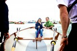 Jim's fibreglass rowing skiff - Photograph by Jenny Steer