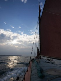 The Spider T sailing off Flamborough July 31 2011 prior to the Arbroath Seafest. Photo:Chris Horan