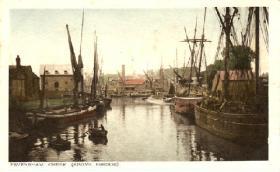 Oare Creek above the bridge 1905