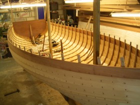 Marcus Lewis Boat Builder Mayflower dinghy