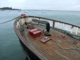 Brittany Le Croisic harbour wooden fishing boat 3