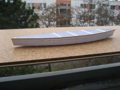 Duck punt paper model