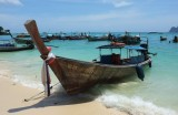 Matt Atkin photographs long-tail boats in the Phi-Phi Islands of Thailand