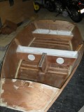 Murray Isles dinghy built by Damien O'Grady