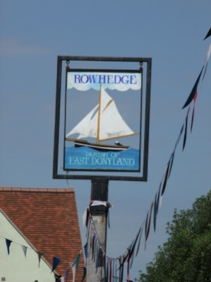Oare Creek to the Colne and back Rowhedge sign