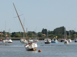 Oare Creek to the Colne and back aground at Brightlingsea
