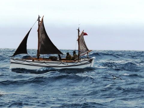 Alexandra Shackleton 64 nautical miles from Elephant Island.  Image Jo Stewart Shackleton Epic.