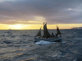 Alexandra Shackleton underway to Elephant Island.  Image credit Jo Stewart Shackleton Epic