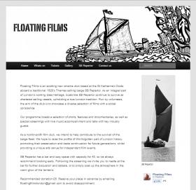 Floating Films website