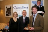 Sara & Will receiving award from Griff Rhys Jones