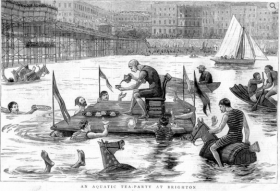 1888 aquatic tea party at Brighton
